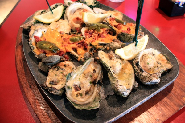 Oyster platter at Wintzell's Oyster House in Montgomery, Alabama