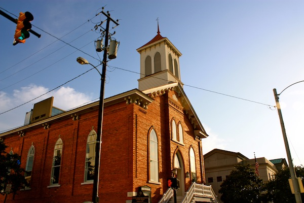Afternoon sunshine on a church in Montgomery, Alabama