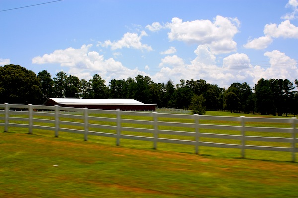 Rural Georgia on a sunny day on a USA road trip