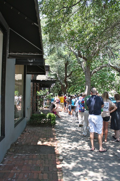 The line at Mrs Wilkes Dining Room in Savannah, Georgia