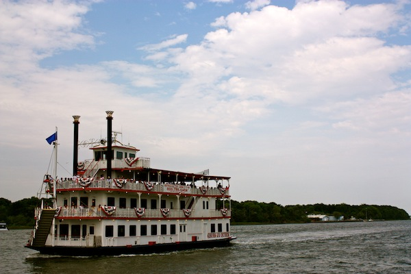 A classic steamboat in Savannah, Georgia