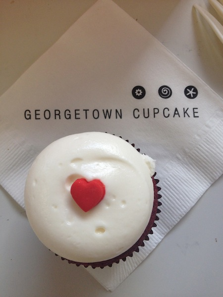 Red velvet cucpcake at Georgetown Cupcake in Washington DC