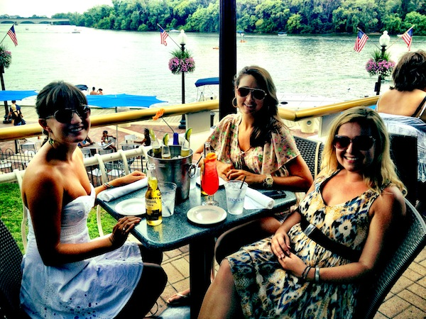 Christine Amorose, Katelin Brennan and Renee Eggers at the Washington DC waterfront