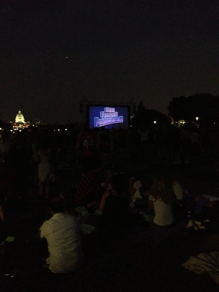 Screen on the Green movie on the mall in Washington DC