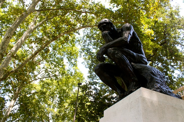 The Thinker at the Rodin Museum in Philadelphia, Pennsylvania