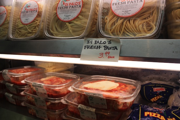 Fresh pasta and tomato sauce in Little Italy with Ahoy New York Tours and Tasting