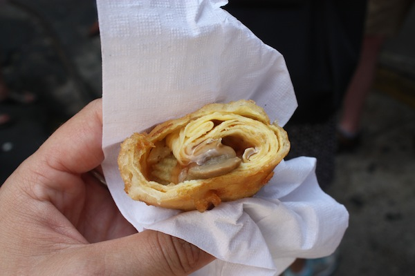 Egg Roll in Chinatown with Ahoy New York Tours and Tasting