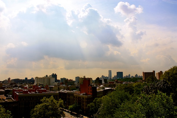 View of Harlem from Morningside Park, New York City, USA