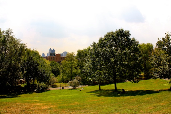 Morningside Park in Morningside Heights, New York City, USA