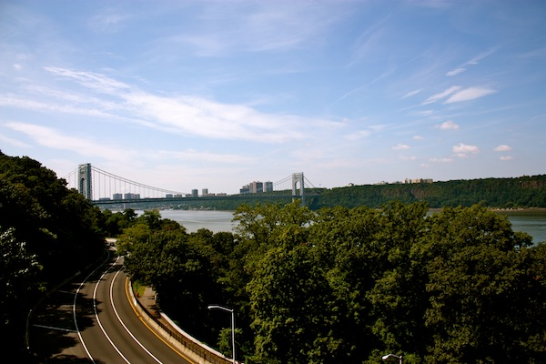View over the Hudson River from Fort Tryon Park in Manhattan, New York City