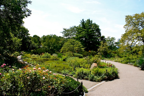 Flower garden at Fort Tryon Park in Manhattan, New York City