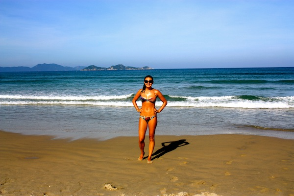 Christine Amorose on Jungle Beach in Vietnam