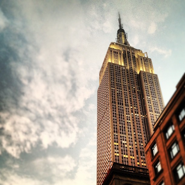 The Empire State Building at dusk in New York City, USA