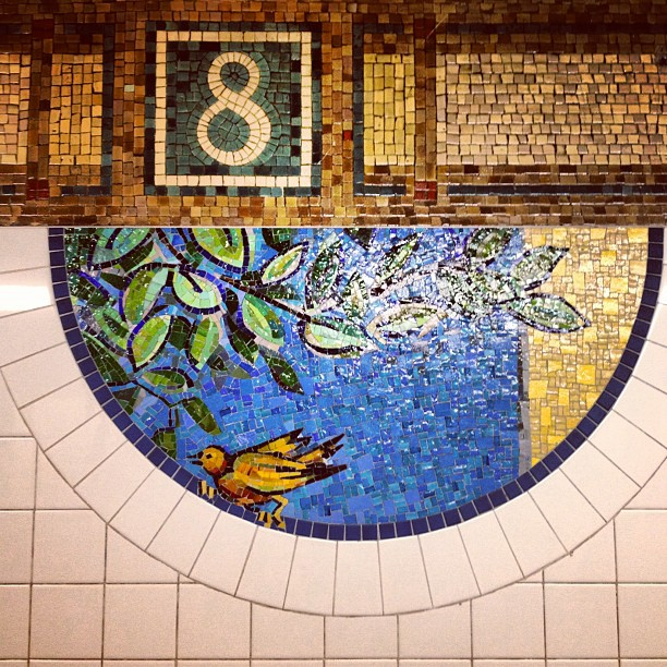 8th avenue mural in the New York City subway