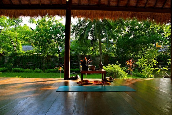 Yoga studio in Gili Trawangan, Indonesia