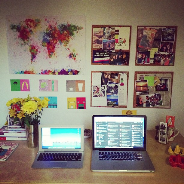 Christine Amorose's home office in Brooklyn, New York