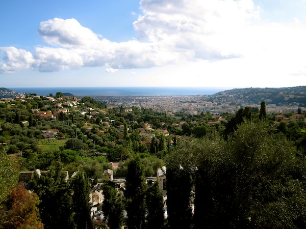 View of the Mediterranean from La Cascade de Gairaut, Nice, France