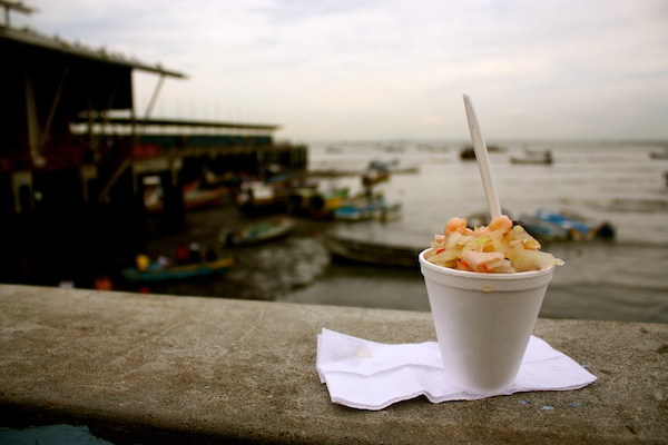 Ceviche Archi at the fish market in Panama City, Panama, South America