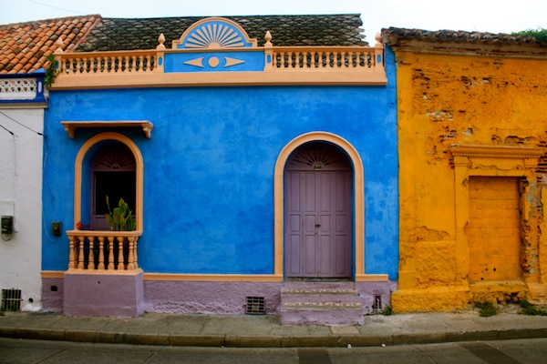Colorful houses in Cartagena, Colombia, South America