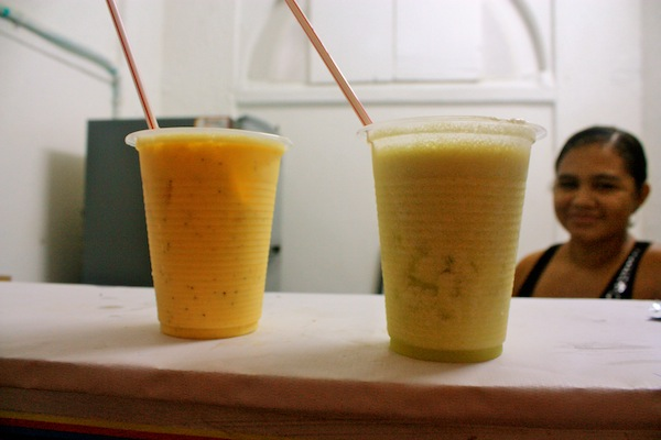 Fresh fruit smoothies in Cartagena, Colombia, South America