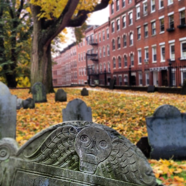 Copp's Hill Burial Ground in North End in Boston, New England