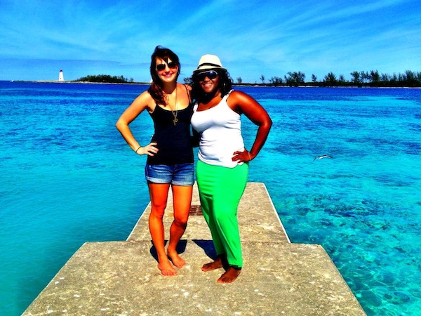 Christine Amorose and Miamah Reed at Nassau, Bahamas