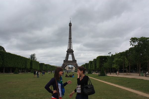 Christine Amorose and Nevin BInkowski at the Eiffel Tower, Paris, France