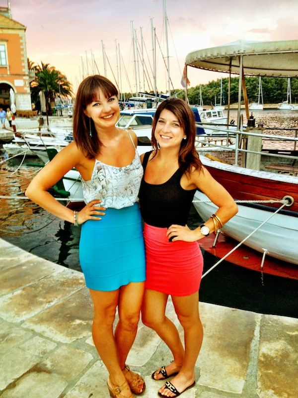 Christine Amorose and Kelsey Dei Rossi on Hvar Island, Croatia