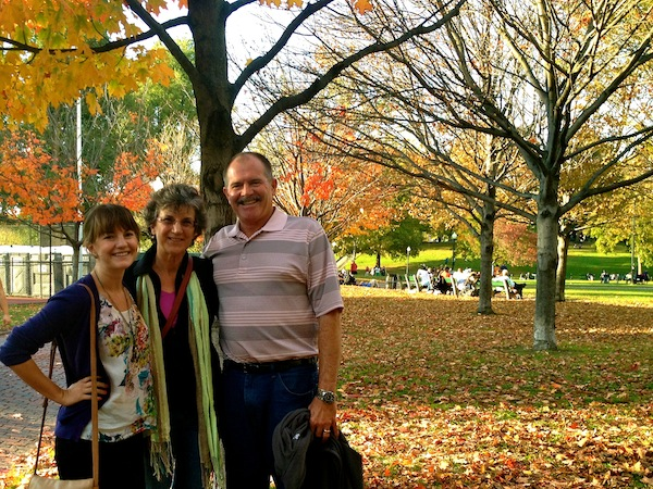 Christine Amorose and family in Boston, Massachusetts, USA
