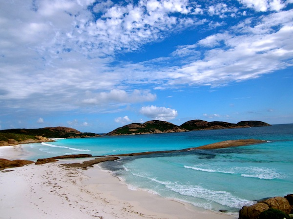Lucky Bay in Cape le Grande National Park in Western Australia