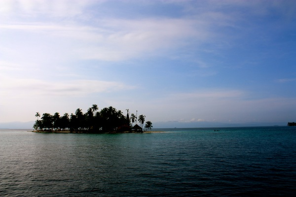 San Blas Islands on a sunny day in the Caribbean