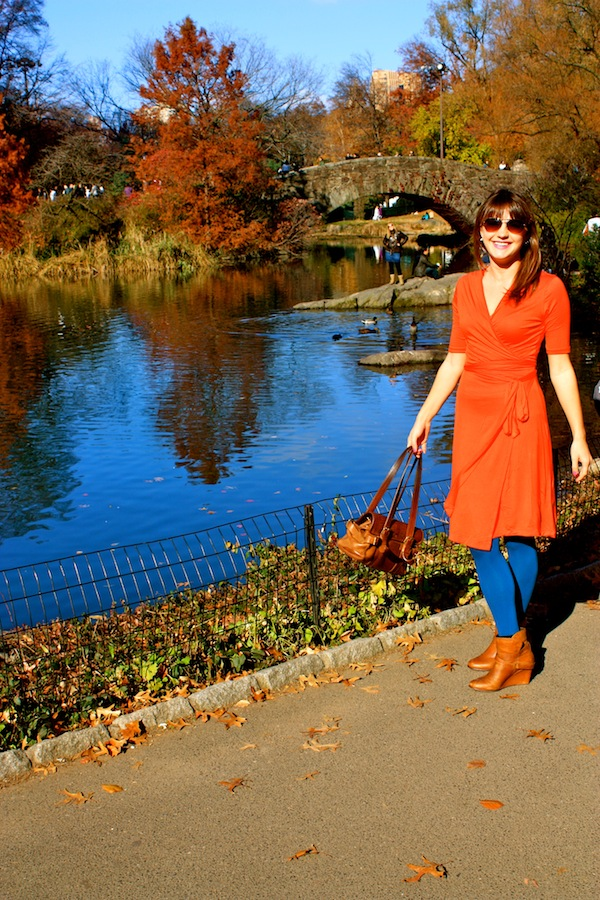 Christine Amorose in Shabby Apple Polly Hill dress in Central Park