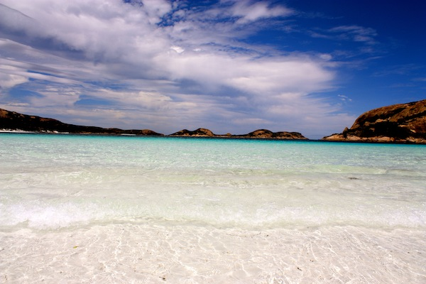 White sand at Lucky Bay in Cape Le Grand in Western Australia