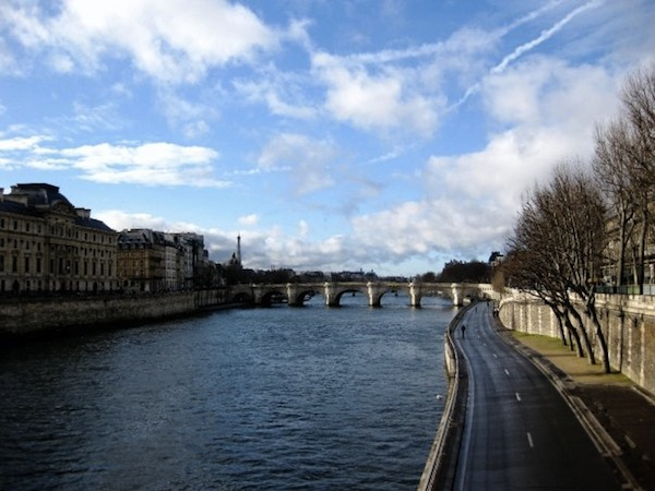 The Seine in Paris on a crisp January day