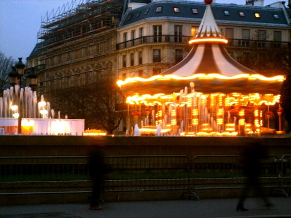 Carousel at Hotel de Ville in Paris, France