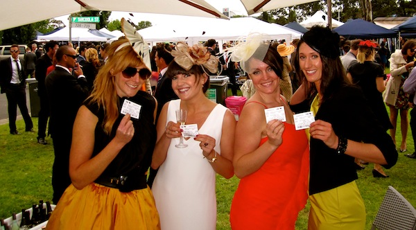 Lovely ladies at the Melbourne Cup 2011
