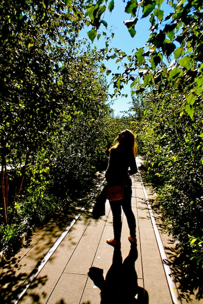 Kate Brennan on the High Line in Chelsea, New York City