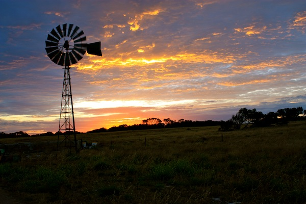 Coodlie Park at sunset in South Australia