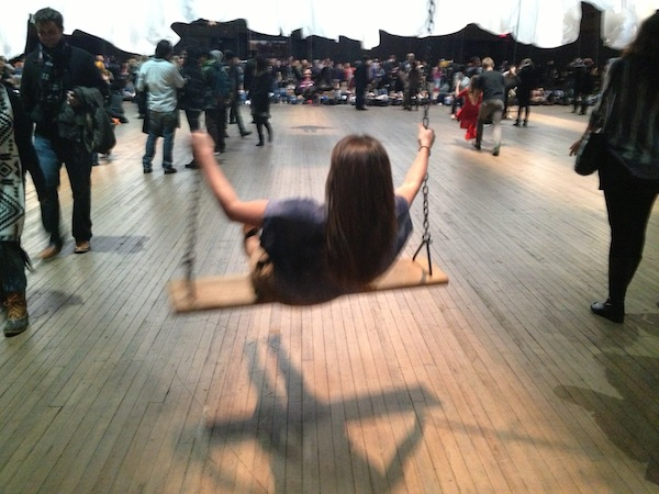 Christine Amorose at Event of a Thread by Ann Hamilton at Park Avenue Armory