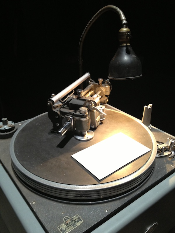 Record machine at Event of a Thread by Ann Hamilton at Park Avenue Armory
