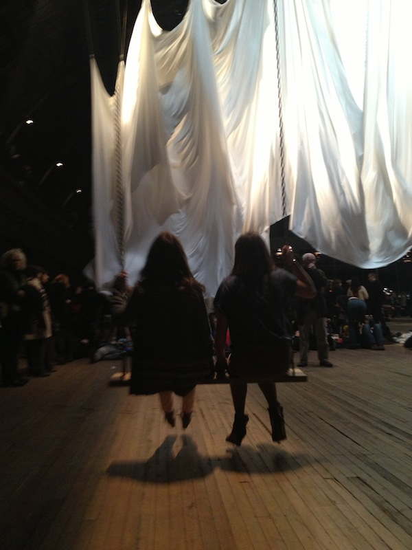 Christine Amorose & Aly Gill at the Event of a Thread by Ann Hamilton at Park Avenue Armory