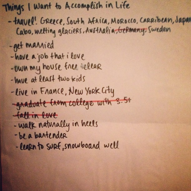 Things I want to accomplish in life