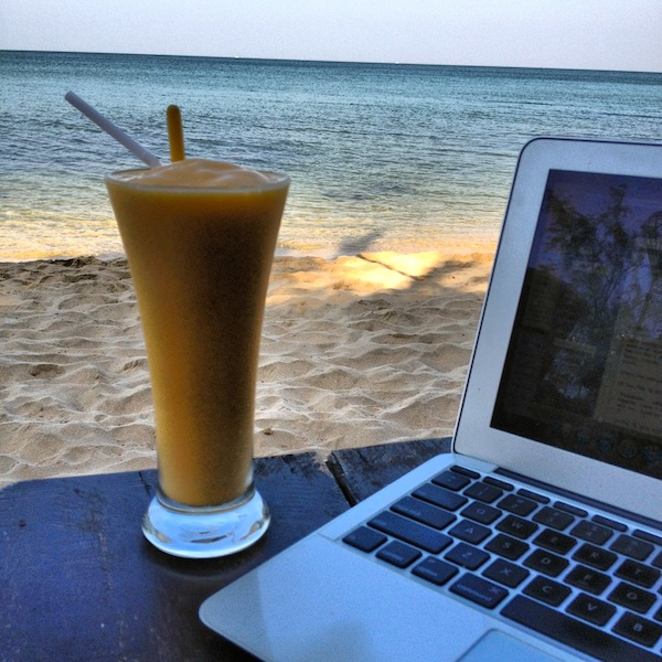Working by the beach in Phu Quoc, Vietnam