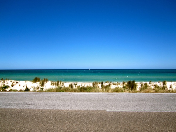 Bike trail to Glenelg Beach in Adelaide, South Australia