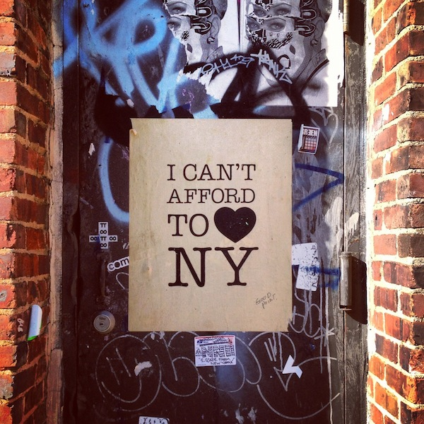 I can't afford to love NYC street art