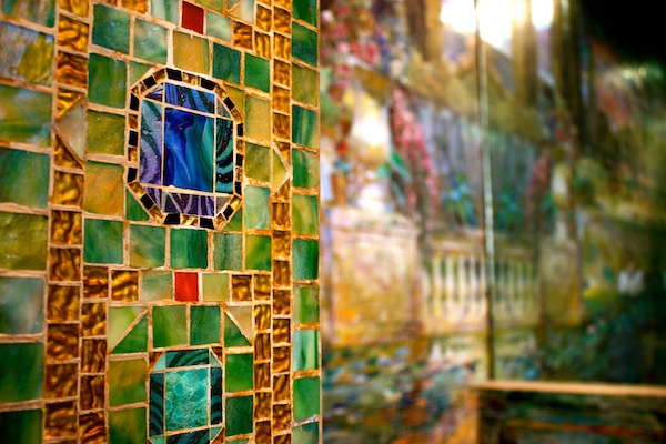 Tiffany mosaic and stained glass in the Metropolitan Museum of Art in New York City