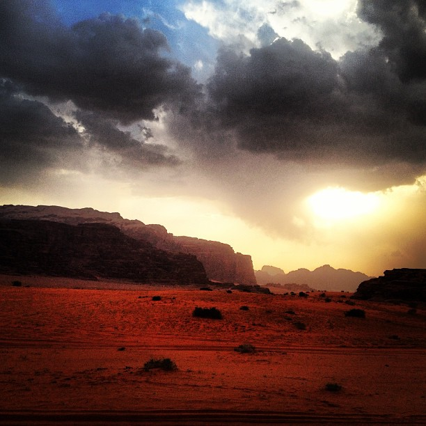 Sunset over Wadi Rum in Jordan