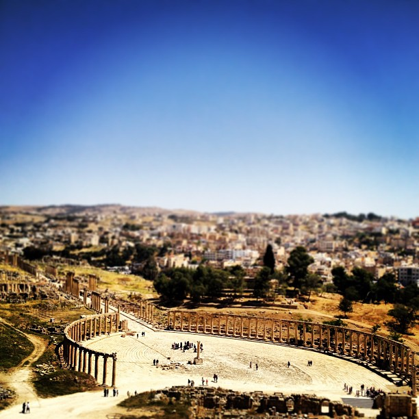 Jerash ancient Roman ruins in Jordan