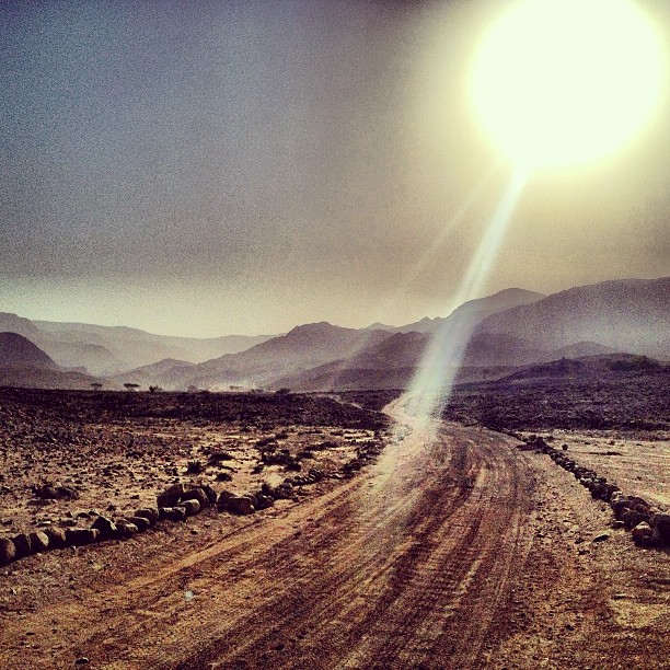 Sunrise over Dana Nature Reserve in Jordan