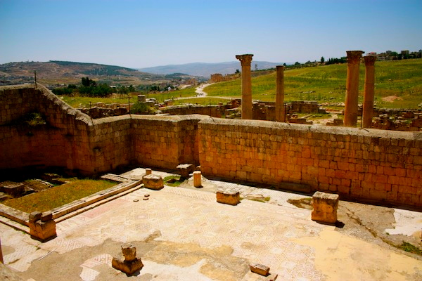 The ancient ruins of Jerash in Jordan, Middle East